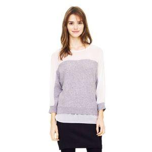 Club Monaco Fordina Silk Yoke Sweater